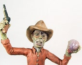 Zombie Horror Art Cowboy Sculpture