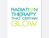 Cancer greeting card/radiation
