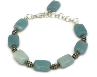 Amazonite Bracelet, Gifts for Women Mom Wife Daughter Sister Grandma Under 25, Mothers Day, Christmas Birthday Gifts