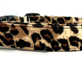 Wild Thing Brown and Black Cheetah Leopard Print Dog Collar