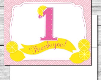 Thank you Notes---Pink Lemonade Party--511S
