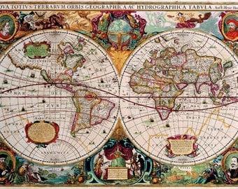 Print of World Map 1630