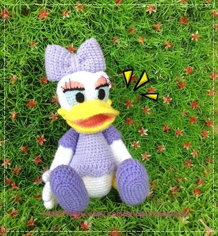 Amigurumi Finger Puppets Free Pattern : Daisy Duck 8.5 inches PDF amigurumi crochet pattern