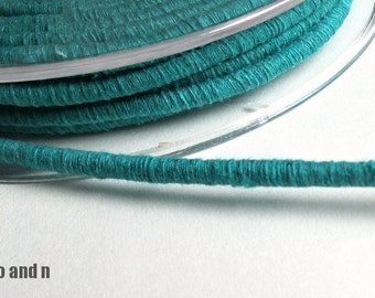 Cotton rope for crafting, cotton rope, cotton rope cord, cotton fiber cord, 3.5mm cotton rope, wrapped cotton rope, teal cotton rope, 1m