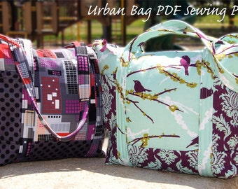PDF Urban Diaper Tote Bag Purse SEWING PATTERN