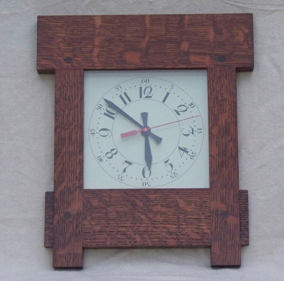arts and crafts missin style wall clock