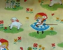 Cosmo Fabric Mary Had a Little Lamb Bo Peep Sheep 1 yd OOP HTF Kawaii Japanese Import