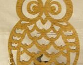 OWL SCROLL Saw PLAQUE