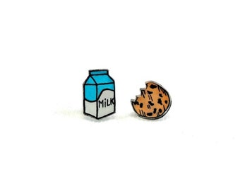 Lil' Milk n' Cookie, Stud Earrings