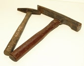 SHIPPING INCLUDED - Set Of Two, Vintage, Masonry Tools, Hammer, Antique Tools,  Man Cave Decor, Tool Shed