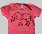 Spotted Hyena Organic Baby Onesie