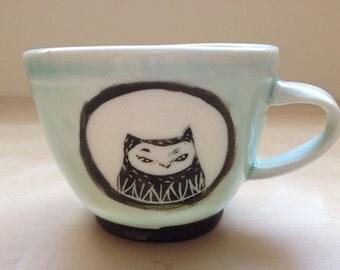 Porcelain Owl Espresso Cup