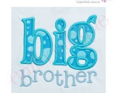 Big Brother Applique- Instant Email Delivery Download Machine embroidery design