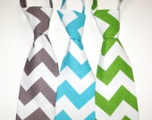 Little Beau Chevron Neckties - Pick your Color -Grey, Green, Blue,  Boy-toddler-baby-photo-prop
