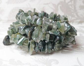 Green Quartz Bracelet on Memory Wire