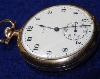 Handsome Elgin 12 Size Gentlemen's 15 Jewels Pocket Watch