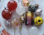 Vintage Bead Venetian Foil Wedding Bead Destash Lot