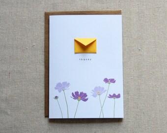 Thanks Flowers - Tiny Envelopes Card