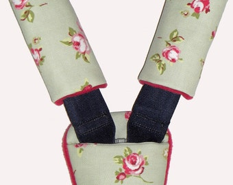 Baby Country Rose Car Seat Pram Pushchair Cart Harness Cover Belt Pads - Travel Aid