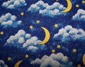 1 Yd. Glittery Stars & Moons-Out Of This World Cotton Quilt Fabric
