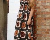 D&D Maxi African Print Dress  LARGE