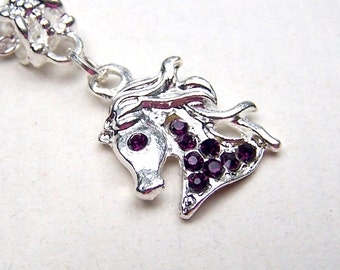 Girls Jewelry Horse Necklace Girls Horse Jewelry Childrens Necklace