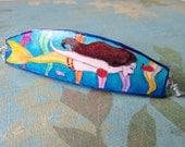 Handpainted Large Mermaid Hair Clip, Fantasy Hair Clip, Fairytale Hair Accessories