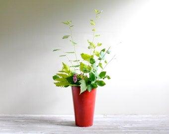 Vintage Galvanized Sap Bucket Flower Vase or Waste Basket