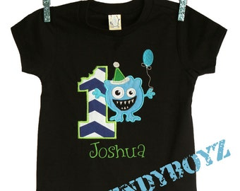 Personalized Birthday Boys Monster Mash Birthday Tee Shirt Design Your Own