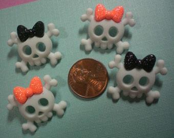 Halloween Girl Skull Buttons