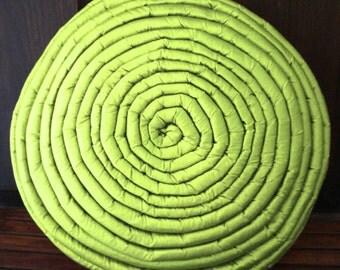 Mandala Pillow-Christmas Daughter Gift-Green pillow-Decorative Pillow-Home -Boho Decor-Round Pillow-16 inches pillow-Farmhouse decor