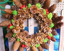 PINECONE wreath / CANDLE ring 13