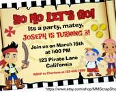Jake & the Never Land Pirates Custom PRINTABLE Birthday Invitation