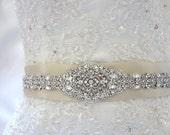 Wedding Dress Beaded Jeweled Crystal Belt Sash Applique Embellishment