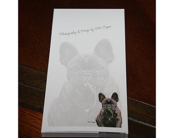 French Bulldog Pad of paper, Fifty Pages in Each Pad with Cover