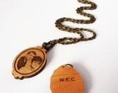 2 IDENTICAL Portrait Necklace (custom engraving)