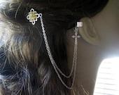 Bobby Pin Ear Cuff,  Ear Cuff, Bobby Pin, Ear Cuff Hair Comb, Celtic Ear Cuff, Cross Ear Cuff, Chain Ear Cuff
