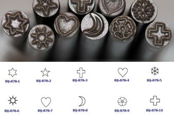 BIJ-878-P, KENT 5.0mm Religious Symbols Precision Design Metal Punch Stamps, Sold Individually
