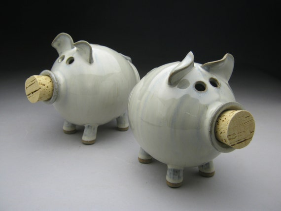 Ceramic Piggy Bank  in White - Made to Order