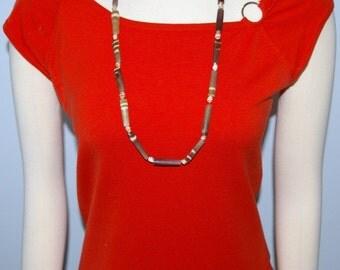 Sea Urchin Spike Necklace,  Browns, Greys, Deep Purple, Vintage 1970's