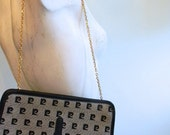 vintage. 70s Pierre Cardin Clutch with Chain Handle  // RETRO GLAMOUR