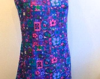 60s Psychedelic Mini Dress