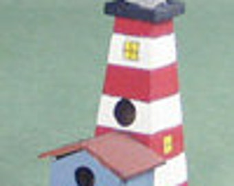 Lighthouse Birdhouse Kit - 1/12 Scale For Your Dollhouse