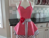 Sweetheart Red - Fun for Valentines and Year Round ~ Sadie Style Women's Apron ~ 4RetroSisters