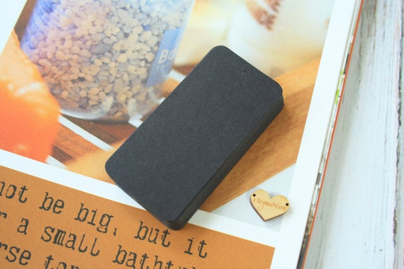 50pcs DIY Collection RECTANGLE shaped BLACK hang tags