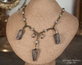 Mystic Quartz Necklace with Gray Labradorite