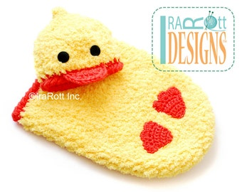 CROCHET PATTERN Quacky Easter Ducky Baby Hat and Cocoon Set PDF Pattern, Instant Download