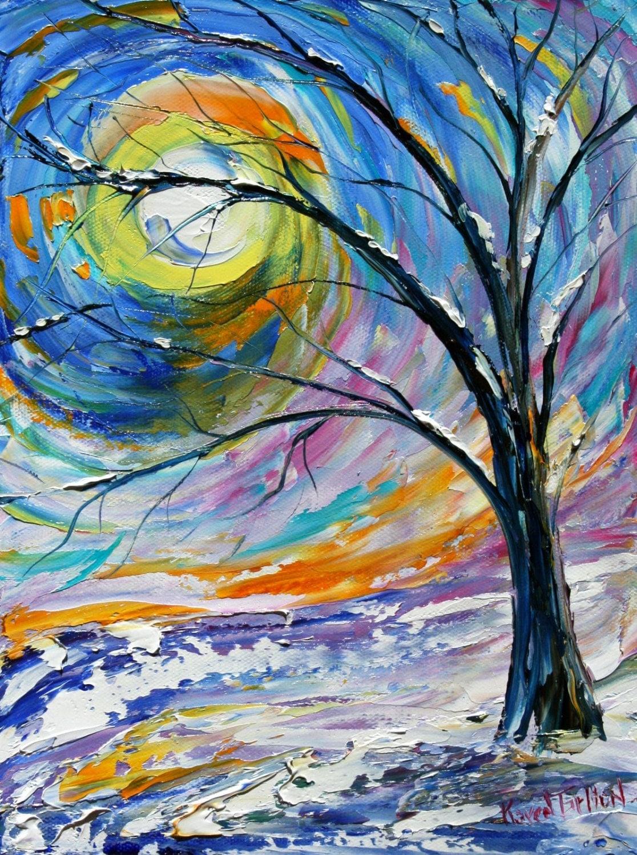 Fine Art Print From Oil Painting First Snow By Karen Tarlton