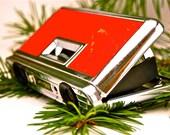 Vintage Crystar Lens Japanese Pop-up Pocket Binoculors made by Carton