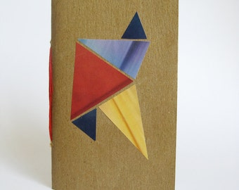 Recycled Mini Journal with Geometric Design